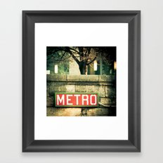 METRO SIGN, PLACE DE LA CONCORDE Framed Art Print