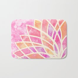 Stained Glass Lotus Bath Mat