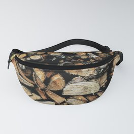 Cool wooden cut piece texture Fanny Pack