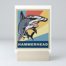 Vintage Retro Hammerhead Shark Novelty Gift Mini Art Print