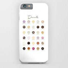 Donut types iPhone Case