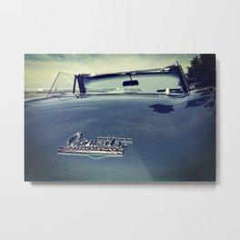 Classic Corvette Stingray badge Metal Print