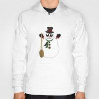 snowman Hoodies featuring Snowman by Adamzworld