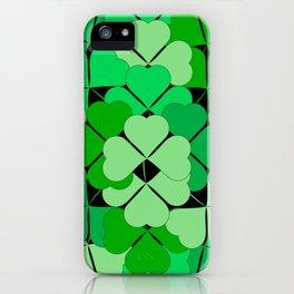 Lucky shamrocks iPhone Case