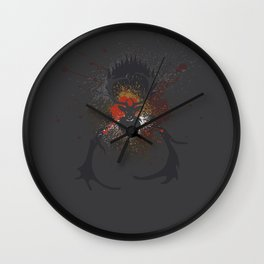 Grunge Stag Wall Clock