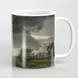 Give Me Shelter - Storm Over Railroad Tracks in Kansas Coffee Mug