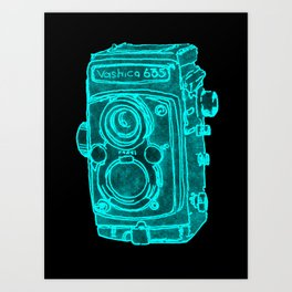 Red Camera Art Print