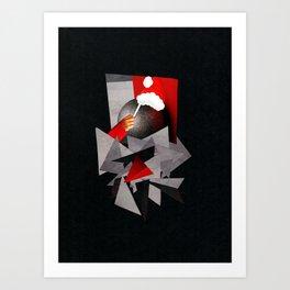 A Fractured Christmas Art Print