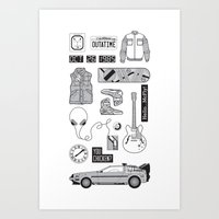 McFly Icons - Back to the Future Art Print