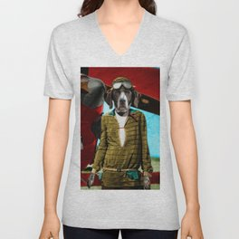 Maggie's Transatlantic Flight Unisex V-Neck