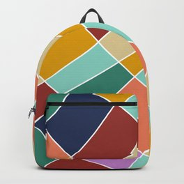 Abstract Retro Painting Backpack