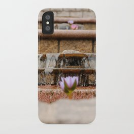 Fountain Flowers iPhone Case