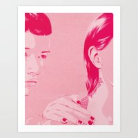 sisters Art Prints featuring Sisters by Hands and Hustle