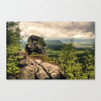 poland Canvas Prints featuring  Table Mountains in Poland by Kamil Sypień