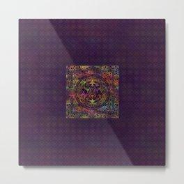 Colorful Sri Yantra  / Sri Chakra Metal Print