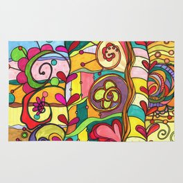Land of Love and Color Rug