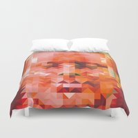muscle Duvet Covers featuring Muscle Man by Donovan Justice