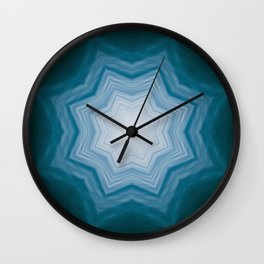 Healing waters Print, home Meditation art Positive Energy element ocean, Mandala style blue water Wall Clock
