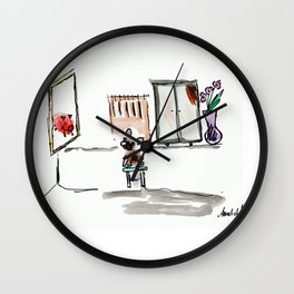 """""""Mirror mirror on the wall"""", art by BoubouleArt Wall Clock"""