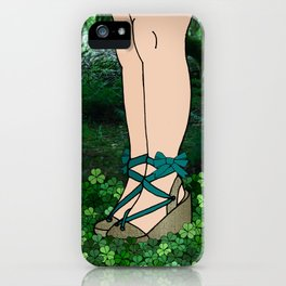 Stroll in an Irish Forest iPhone Case