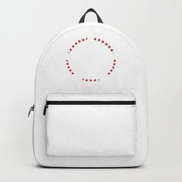 Abstract Modern Gothic Skull Star Backpack