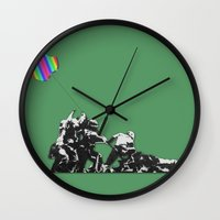 banksy Wall Clocks featuring Banksy style by veronica ∨∧
