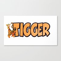 tigger Canvas Prints featuring Tigger by Mix-Master