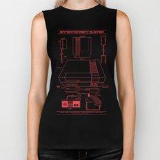 Entertainment System (dark) Biker Tank