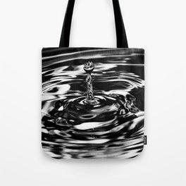 Silver Splash Tote Bag