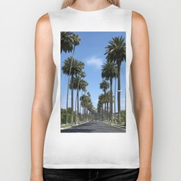 Tall California Palm Trees Photograph Biker Tank