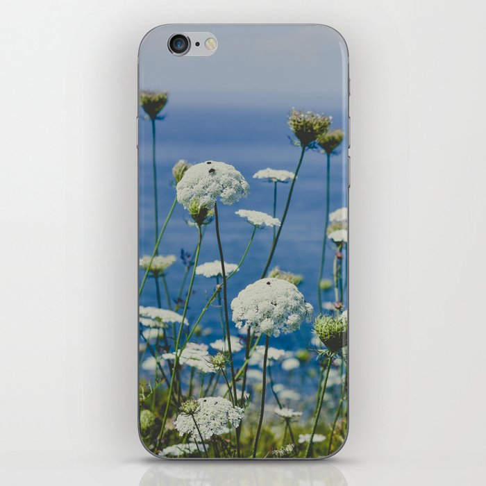 Flowers by the Beautiful Blue Sea iPhone Skin