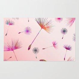 Festive Colorful Dandelions Design Rug