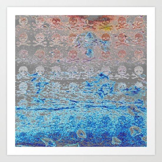 Dead Frost Skulls (Lighter) Art Print