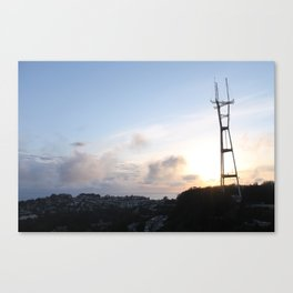 Sutro Tower at Sunset Canvas Print