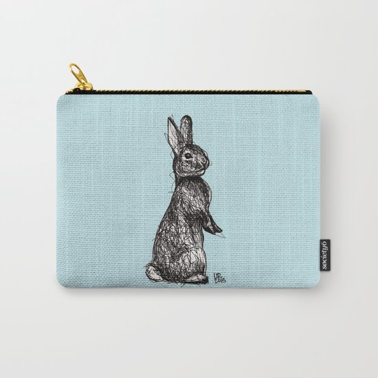 Blue Woodland Creatures - Rabbit Carry-All Pouch