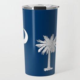 South Carolina State Flag Patriotic Design Travel Mug