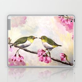 Japanese White Eye Birds Laptop & iPad Skin