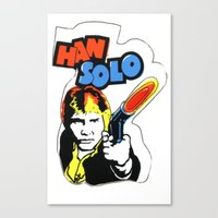 han solo Canvas Prints featuring Han Solo by Popp Art