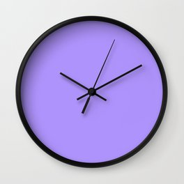The Future Is Bright Lilac - Solid Color - Purple Wall Clock