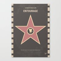 entourage Canvas Prints featuring No525 My Entourage minimal movie poster by Chungkong