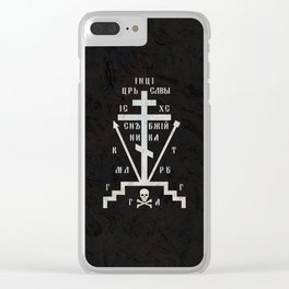 Calvary Cross of Russian Orthodox Church Clear iPhone Case