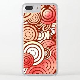 Layered random circles Clear iPhone Case