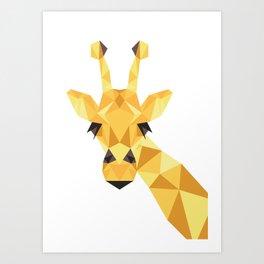 a giraffe Art Print