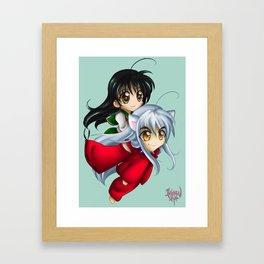 Inuyasha & Kagome Chibi Framed Art Print