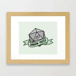 Dungeon Master D20 Framed Art Print