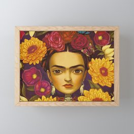 Frida Flowers Framed Mini Art Print