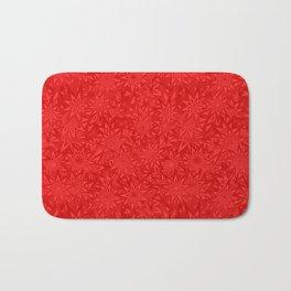 Red geometric star pattern Bath Mat