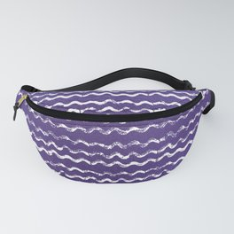 Abstract violet white watercolor geometrical chevron zigzag Fanny Pack