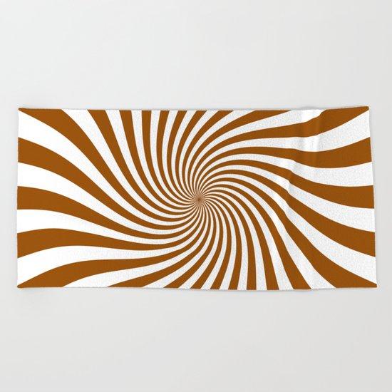 Swirl (Brown/White) Beach Towel