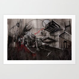 Tin Bones and Toy Guns Art Print